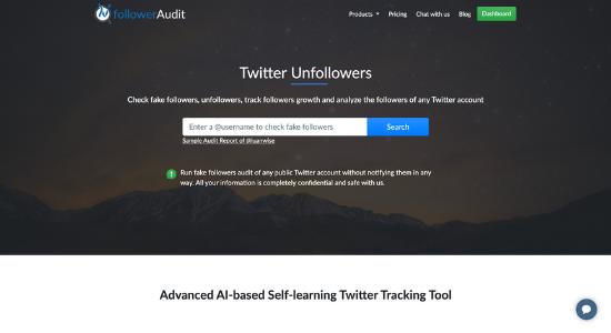 Twitter tool FollowerAudit